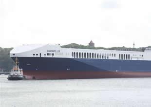 Ulusoy'un ikinci Ro Ro gemisi suya indirildi