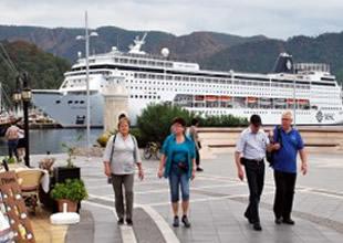 'MSC Armonia' gemisi ilk kez Marmaris'te