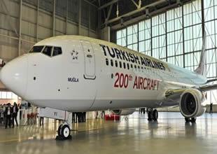 THY 200'üncü uçağı filosuna kattı