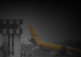 DHL'e ait uçak pistte tutunamadı