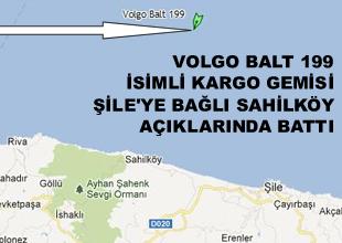 Volgo Balt 199 adlı gemi Şile'de battı