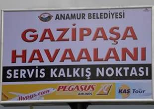 Gazipaşa Havaalanı'na destek sürüyor
