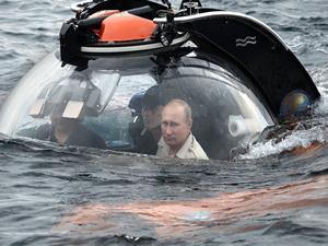 Putin Karadeniz'in derinliklerine daldı