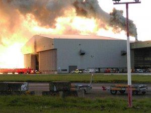 Dublin Havalimanı'nda yangın çıktı