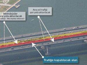 Haliç Köprüsü metrobüs yolunda bakım çalışmaları başladı