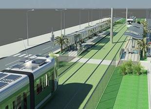 Konak tramvayı yeniden Sahil Bulvarı'na alındı
