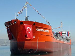 Palmali Denizcilik'e inşa edilen M/V ARMADA PRIDE isimli kimyasal tanker, denizle buluştu