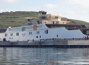 Van Gölü'nde çalışacak ilk feribot göreve hazır
