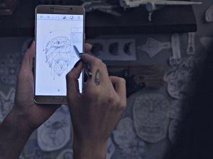 Samsung Galaxy Note5, sanatçılara ilham veriyor