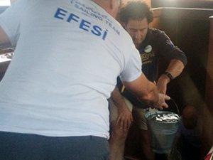 Bodrum Cup Yarışları'na katılan EFESİ Teknesi, Kardak açıklarında su alarak batma tehlikesi geçirdi