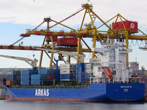 M/T AKDENIZ ile çatışan Türk bayraklı M/V MATILDE A, Köstence Limanı'nda bakıma alındı