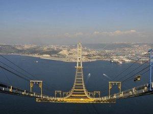 İzmit Körfez Geçişi Asma Köprüsü'nde sona yaklaşılıyor