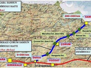 Samsun-Ankara treni hızlı geliyor