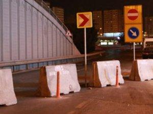 D-100 Şirinevler yan yol girişi trafiğe kapatıldı