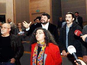 Haliçport toplantısında protesto: Salonu terkedin