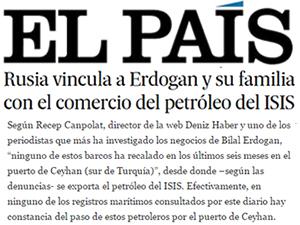 İspanyol El Pais Gazetesi Rusya'nın suçlamalarına, DenizHaber'i kaynak göstererek manşete taşıdı