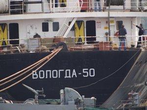 Rus askeri kargo gemisi, VOLODGA - 50 Çanakkale Boğazı'ndan geçti