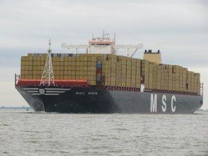MSC Maya, İngiltere'nin Southampton Limanı'nı ziyaret etti