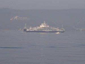 Çanakkale'de yoğun sis, deniz trafiğini vurdu