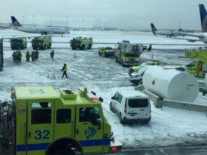 United uçağında panik: Uçağın motoru yandı!