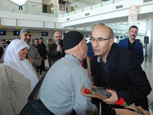 Adıyaman'da uluslararası ilk uçuş kutsal topraklara!