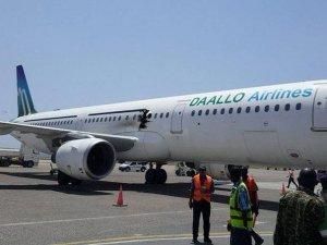 Yolcu uçağında patlama