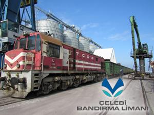 Çelebi Bandırma Limanı demiryolu avantajını kullanıyor