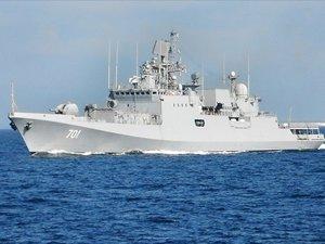 Geleceğin gemisi 'Amiral Grigoroviç' Karadeniz Filosu'na teslim edildi