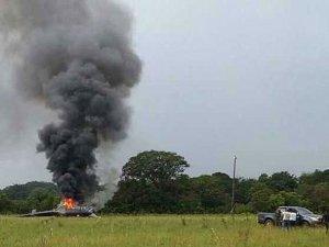 Kolombiya'da polis helikopteri düşürdüler