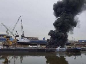 Almanya'da petrol tankerinde patlama: 2 ölü