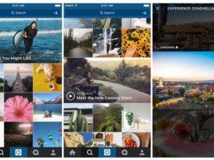 Instagram'ın keşfet bölümü güncelleniyor