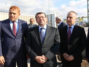 Ürdün Ulaştırma Bakanı Ro-Ro seferleri için İskenderun Limanı'nı inceledi