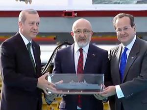 TCG ANADOLU'nun sac kesimi, Erdoğan'ın katılımıyla gerçekleştirildi
