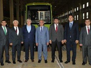 Bursa'da üretilen tramvaylar ekimde Samsun'da