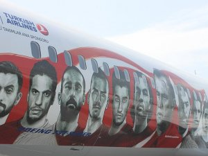 THY uçağı Milliler için boyandı
