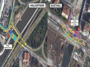 İzmir Bostanlı ve Halkapınarda trafik düzenlemesi yapılacak