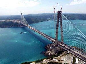 Yavuz Sultan Selim Köprüsü'nün asfaltlama işlemi tamamlandı