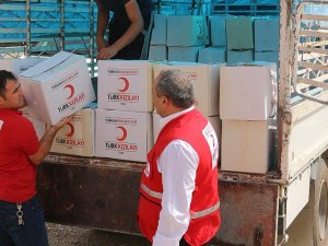 Türk Kızılayından yurt dışında 2,5 milyon liralık gıda yardımı