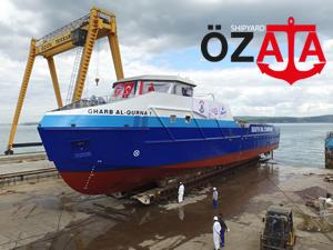 Özata Tersanesi Gharb El Qurna 1 adlı gemiyi  denize indirdi