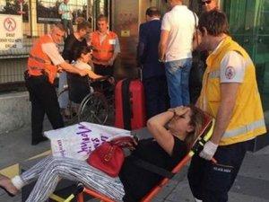 Marmaray'da yürüyen merdiven paniği: 2 yaralı