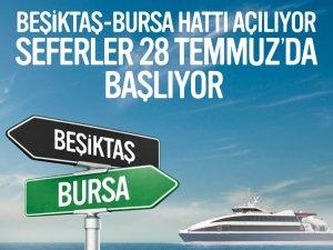 İDO'nun, Beşiktaş - Bursa seferleri 28 Temmuz'da başlıyor