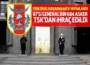 TSK'dan 1684 asker ihraç edildi