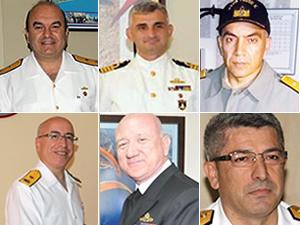 Cuntada görev alan 6 firari amiralin isimleri belli oldu