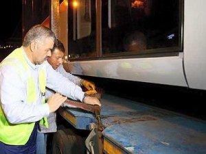 Kayseri'de yerli tramvaylar raylara indi