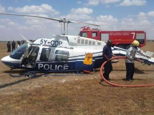 Kenya'da polis helikopteri düştü