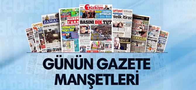28 Mayıs 2017 Pazar tarihli gazete manşetleri