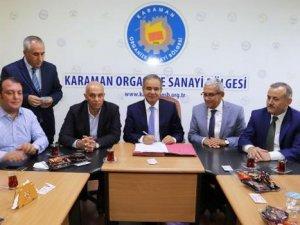 Karaman'da Lojistik ve yük merkezi için imzalar atıldı