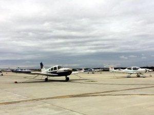 Çorlu'da eğitim uçuşlarına fırtına engeli