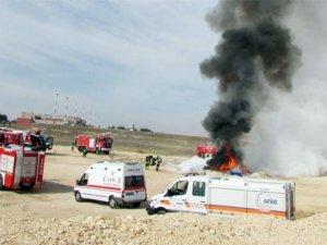Gaziantep Havalimanı'nda yangın tatbikatı