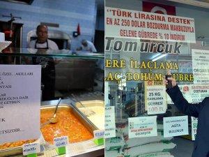 Esnafın Türk lirası'na desteği sürüyor
